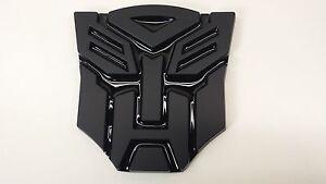Black 3D Autobot 4 Inch Transformers Emblem Badge Decal Car Stickers Truck