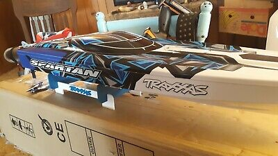 New Traxxas Spartan RC boat One of a kind this boat has everything. The