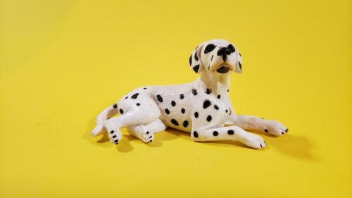 Schleich Lying down DALMATIAN DOG 16319 OLD FEMALE VERSION Retired RARE