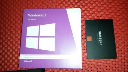 Windows 8.1 Full Version 32bit,64bit and Samsung 500gb SSD Hdd.