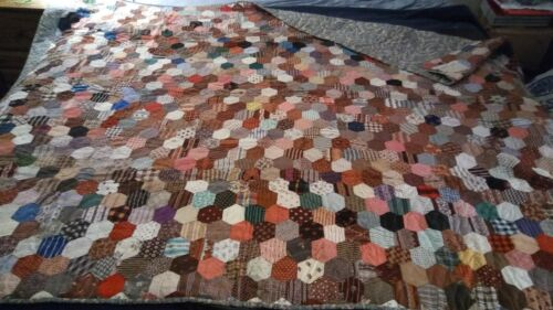 Beautiful Antique 1876 Hand Stitched Quilt 82x65 WITH PROVENANCE ATTACHED!
