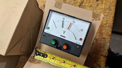 Analog Volt Voltage Voltmeter Square Panel Meter Ac 0-300v Tsuruga Nrc-100hl