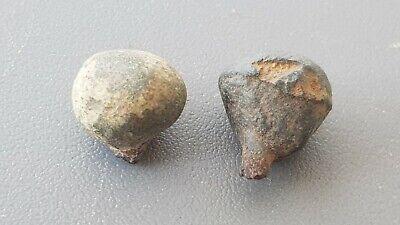 Rare Roman bronze pin heads found in York/Eboracum A must read description L133a