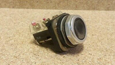 AB 800T-A Black Momentary Push Button w/ 800T-XA Contact Block Q150, used for sale  Nicollet