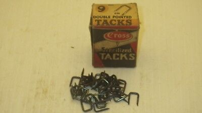 VINTAGE CROSS STERILIZED TACKS #9 DOUBLE POINTED