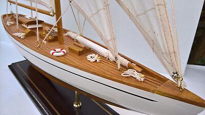 Segelyacht Segelschiff Holzmodell 62cm lang, 80cm hoch *NEU*
