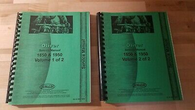 Oliver Service Manual 1850 1950 Volume 1 And 2