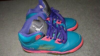 8e4f055a8e49 AIR JORDAN V 5 Girls Basketball Shoes Size US 4 Y 440892-307 slightly used