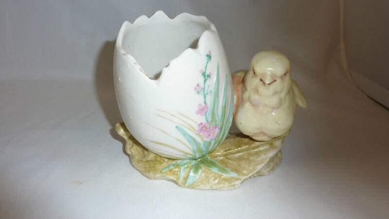 Vintage Easter Chick and Egg Flower Holder Austria