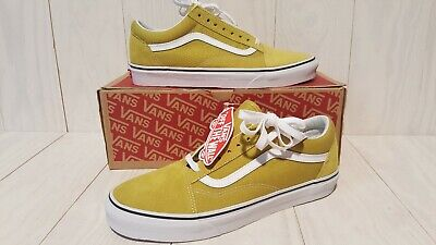 Cress Green (Vans Old Skool Cress Green and White Skate Shoes Mens Size 9.5 NEW WITH BOX)