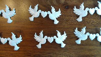 24 Taubenpaare - Satin natur, Streudeko, Tischdeko, Hochzeit, Feier (0,13 €/St)