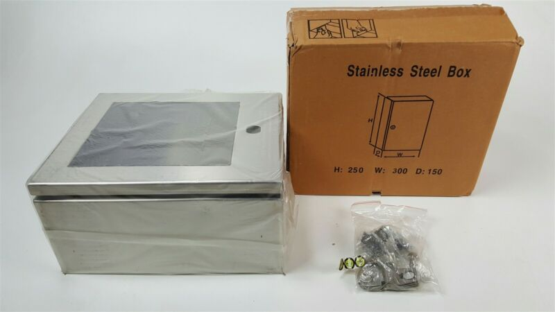 Stainless Steel project / AED box with lock 250mm x 300mm x 150mm