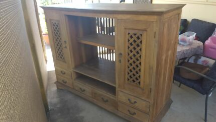 Antique Hardwood Entertainment unit cupboard wall unit. Cabramatta West Fairfield Area Preview