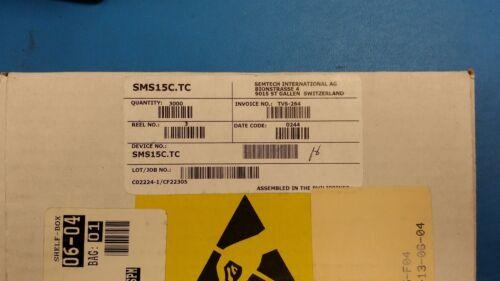 (100 PCS) SMS15C.TC SEMTECH TVS DIODE 15VWM 29VC