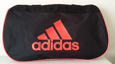 NWT ADIDAS Diablo Small II Duffel Bag Black Infrared Sport Gym Travel Carry  On dce49363c15a1