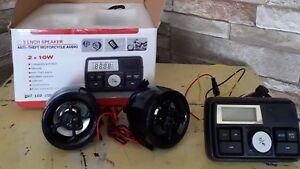 Systems audio pour moto