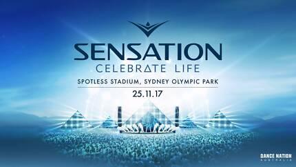 1 x Sensation White Sydney ticket