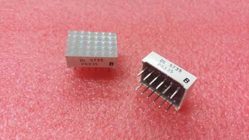 2X SIEMENS LITRONIX DL-5375 LED DOT MATRIX DISPLAY 5X7 RED DIP12