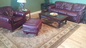couch and coffee table and three end table chair,foot ottoman