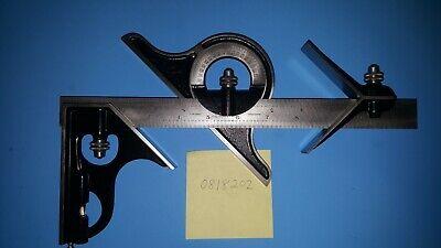 Starrett Combination Square 12 Square Center Head Protractor 492 4r Nice 4r