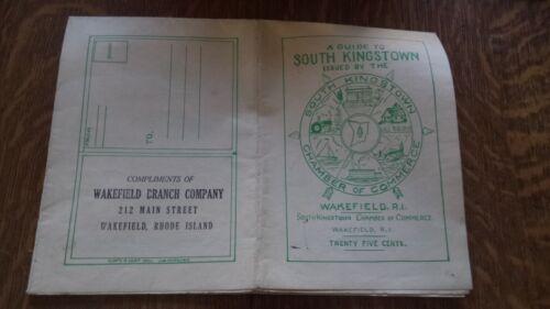 Vintage South Kingstown, Rhode Island Map 1950