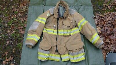Janesvillelion Apparel Firefighters Jacket Turnout Bunker Gear Fireman Sz 4032r