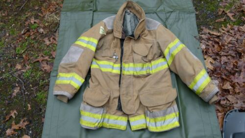 Janesville/Lion Apparel Firefighters Jacket Turnout Bunker Gear Fireman Sz 4032R