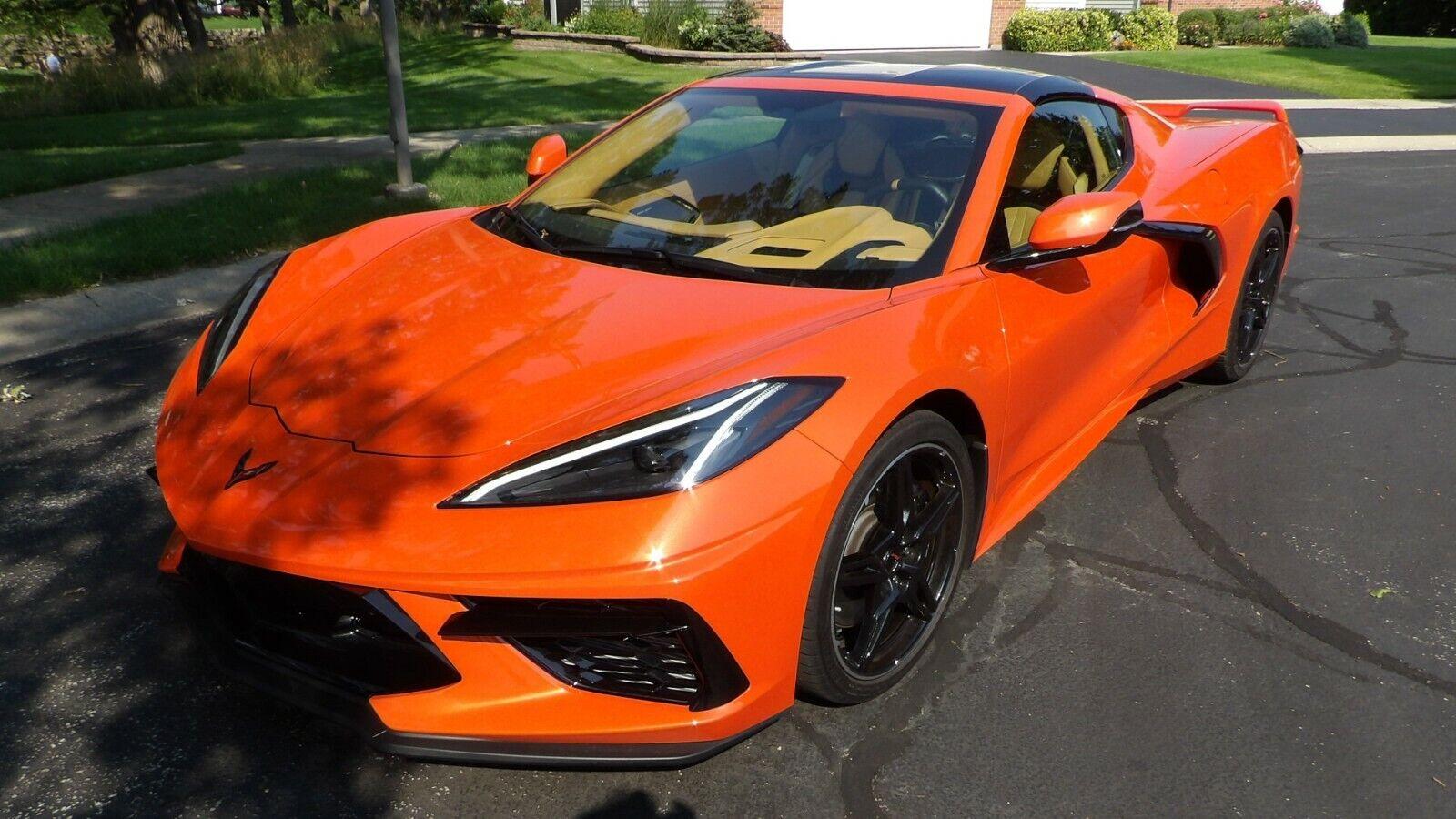 2020 Orange Chevrolet Corvette     C7 Corvette Photo 1
