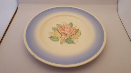 Rare Vintage Susie Cooper Patrician Rose Blue Band Dinner Plate