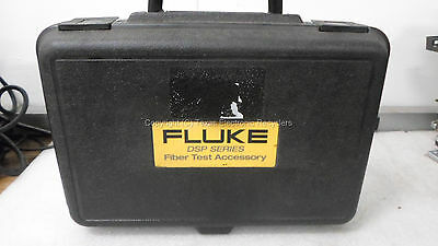 Fluke Fos 850-1300 Fiber Optical Source Dsp-fom Fiber Optic Meter W Case