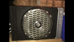 "10"" Rockford sub in bassworx box"