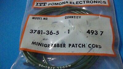 Pomona 3781-36-5 36 Mini Grabber Test Clip Each End 1 Green