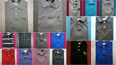 NWT Abercrombie & Fitch Rugby Polo T Shirt Mens Various Color Size S&M&L&XXL Abercrombie Fitch Mens Polo