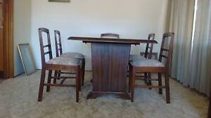 Wooden dining table with chairs Lilli Pilli Sutherland Area Preview