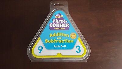 Trend Enterprises, Inc. Three-Corner Flash Cards Addition and Subtraction