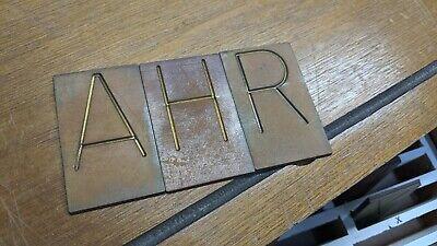New Hermes Master Copy Engraving Font Set 2.25 1.5 High Chars Old Standard