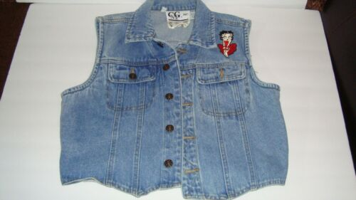 Vintage 1994 Betty Boop Denim Vest Womens Size L