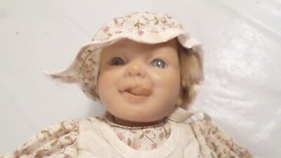 """Vintage Berenguer JC Toys 9"""" Blue Eye Doll with Tongue out"""