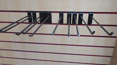 100 Retail Slatwall Grid Panels Hook 12 Long Black Hooks Store Wall Fixtures