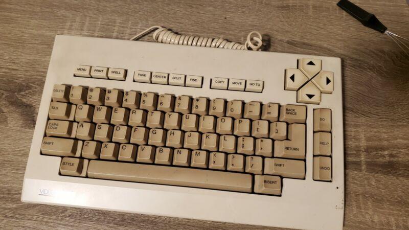 Vintage Magnavox Videowriter Keyboard - Brown Alps