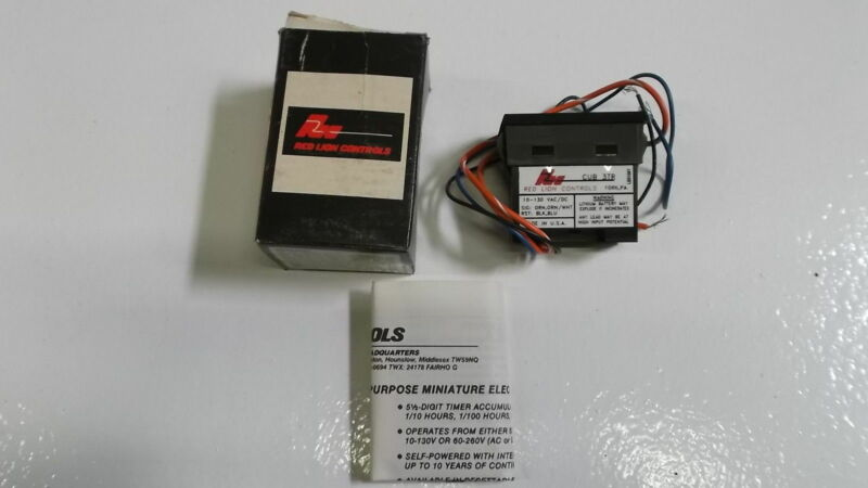 RED LION CONTROLS CUB 3TR DIGITAL COUNTER *USED*