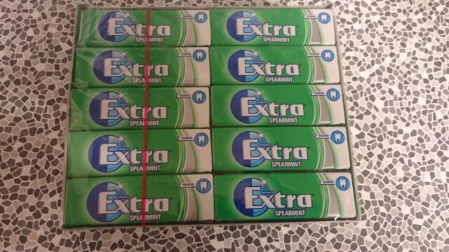 30 Packs Wrigley's Extra Chewing Gum Spearmint Sugar Free £10.49 FREE POSTAGE...
