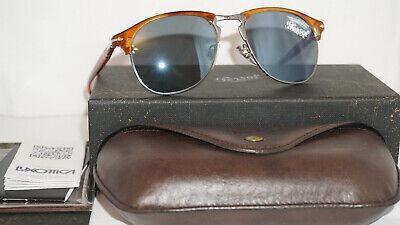 Persol Sunglasses New Havana Palladium Blue Mirror PO8649S 96/56 53 145