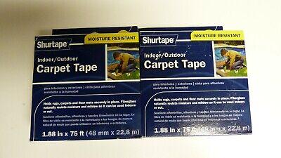 Shurtape Indooroutddor Carpet Tape 1.88 X 75 Ft - New - Lot Of 2