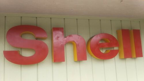 """Large SHELL Gas Oil Service Station Approx 20"""" tall Advertising Letters"""