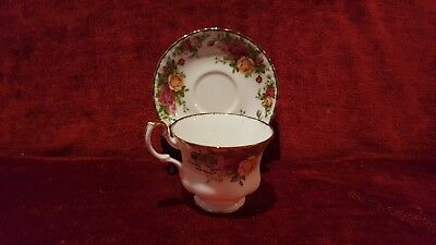 Royal Albert Bone China Old Country Roses Cup and Saucer Set