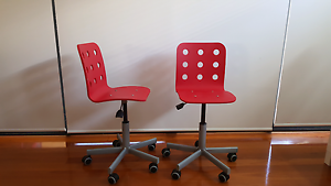 two red junior student Ikea desk Chairs - Jules (rrp $69.95 each) Morley Bayswater Area Preview