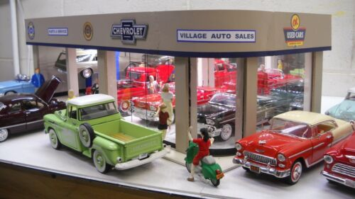 Chevrolet vintage model car dealership showroom & service diorama 1/25 scale!