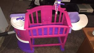 Baby crib and high chair
