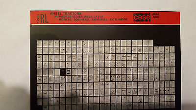 Case Parts Catalog Microfiche Tractor Early Number Series 500 Diesel 520